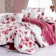 4 pc classical white and red cotton duvet cover oriental bedding