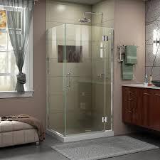 Shower Door 36 Shop Dreamline Unidoor X 36 In To 36 In W Frameless Chrome Hinged