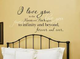 i love you moon and back vinyl wall decal