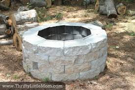 Firepit Bricks Easy Diy Inexpensive Firepit For Backyard Thrifty