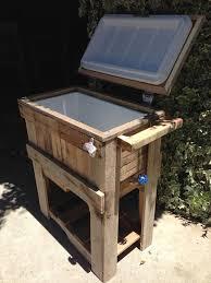 diy rustic outdoor pallet cooler pallet furniture diy for my