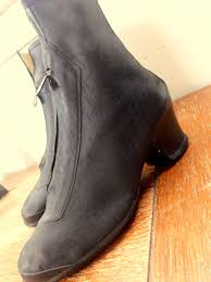 vintage motorcycle boots ladies vintage overshoes boots 1940 u0027s black with front