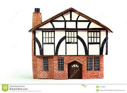 Frame House Timber Frame House Paper Model Stock Photo Image 31749090
