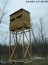 Deer Hunting Box Blinds Plans Plans For Building A 6x8 Elivated Ground Blind Michigan