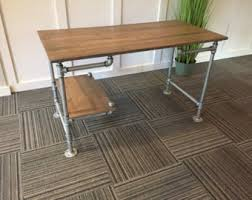 pipe desk with shelves fancy galvanized pipe desk with shelving desks and iron desk
