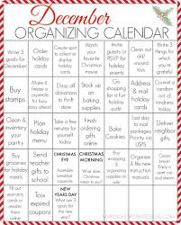 free printable december organizing calendar your entire holiday