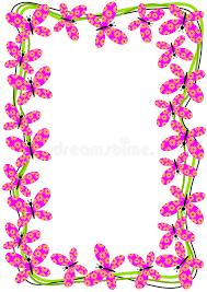 flying butterflies border frame stock illustration illustration