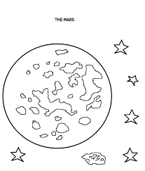 mars red planet planet coloring pages color luna
