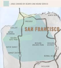 Sf District Map Contact Us U2014 Hearth U0026 Hound Dog Training Sitting U0026 Walking In