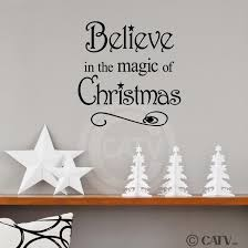 believe home decor amazon com believe in the magic of christmas 12x12 vinyl wall art