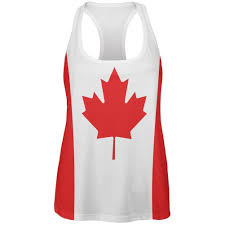 canada flag womens work out tank top canada day pinterest