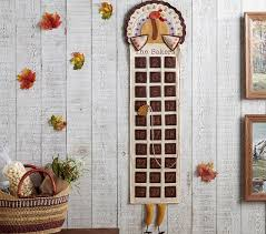 thanksgiving personalized turkey countdown calendar pottery barn