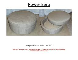 Rowe Ottoman Barnett Furniture Ottomans