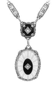 antique jewelry necklace images 1920 39 s antique style filigree art deco lavalier necklace with jpg