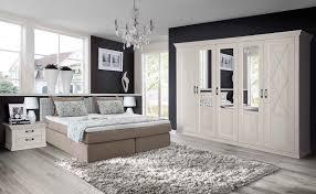 Schlafzimmer Bett Sandeiche Schlafzimmer Set Mit Boxspringbett 180x200cm In Greige Mit Weißem