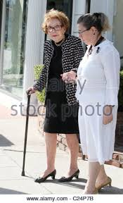 nancy reagan leaving a nail salon with help in west hollywood los