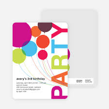 party invitations rainbow balloons birthday party invitations paper culture
