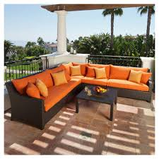 Patio Furniture Sectional Sets - amazon com rst brands op peclb5 tka k deco 5pc club chair