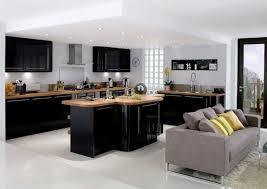 cuisine noir bois cuisine noir et bois cuisine inox cuisines francois