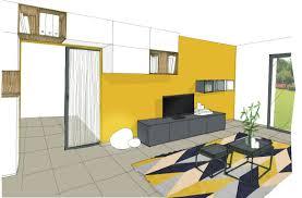 bureau d architecture croquis bureau jaune réalisation keidue agence d architecture