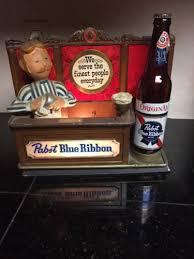 ribbon display pabst blue ribbon lighted back bar sign display vintage pbr