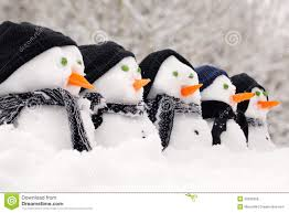 snowmen close up in a row royalty free stock images image 29529369