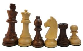 chess pieces wood