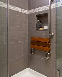 Concertina Shower Curtain Folding Shower Bench Bathroom Contemporary With Gray Shower Shower