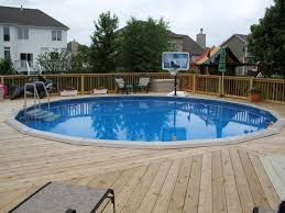 enchanting swimming pool design ideas with wood deck design and