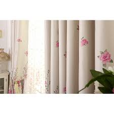 Pink Curtains For Sale Floral Print Poly Cotton Blend Country Curtains For Bedroom Or