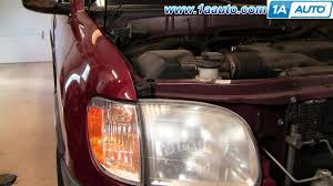 how to install replace toyota tundra parking lights 00 06 1aauto