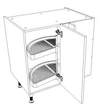 meuble d angle bas cuisine meuble d angle pour cuisine équipée largeur 80 cm plateaux demi lune