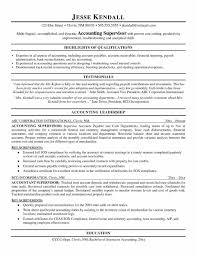 Accounts Sample Resume Sample Resume For Supervisor Position Free Resume Example And