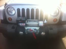 Rugged Ridge 8500 Winch Winch On Stock Bumper Jeep Wrangler Forum