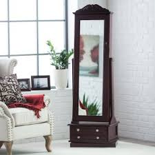 Free Standing Full Length Mirror Jewelry Armoire Jewelry Armoires Hayneedle