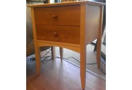 traditional solid maple cherry natural 2 drawer nightstand