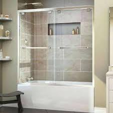 bathtubs swinging frameless glass shower doors for tubs removing Bathtubs With Glass Shower Doors