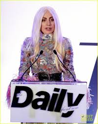 lady gaga supports stylist brandon maxwell at daily front row