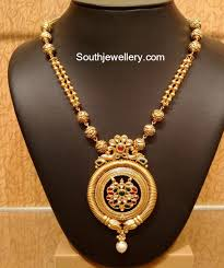 light weight gold necklace designs light weight simple antique gold necklace by naj jewellery nellore