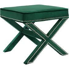 Meridian Patio Furniture by Meridian Furniture 126green Ott Nixon Ottoman Bench In Green