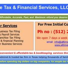 financial services phone number all tax and financial services llc accountants 1401