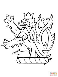 lion rampant of scotland coloring page free printable coloring pages