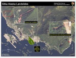 Sitka Alaska Map Satellite Imagery Used For Sitka Alaska Landslide Response Land