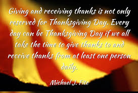 what are three ways you can practice giving and receiving thanks
