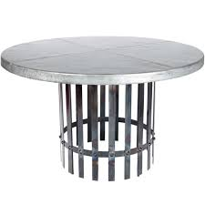 Zinc Dining Table Round - 60 inch round wrought iron outdoor dining tables