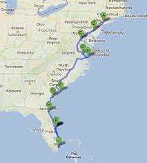road map planner usa road trip along the east coast of usa