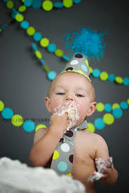 1st birthday cake smash on seamless paper backdrop in thunder grey