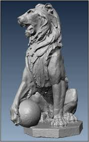 roaring lion statue ncptt restoring the lion s roar documenting and replicating