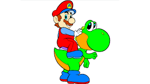 mario and yoshi coloring page youtube