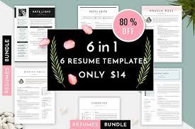 6 in 1 resume templates bundle vol 1 resume templates creative
